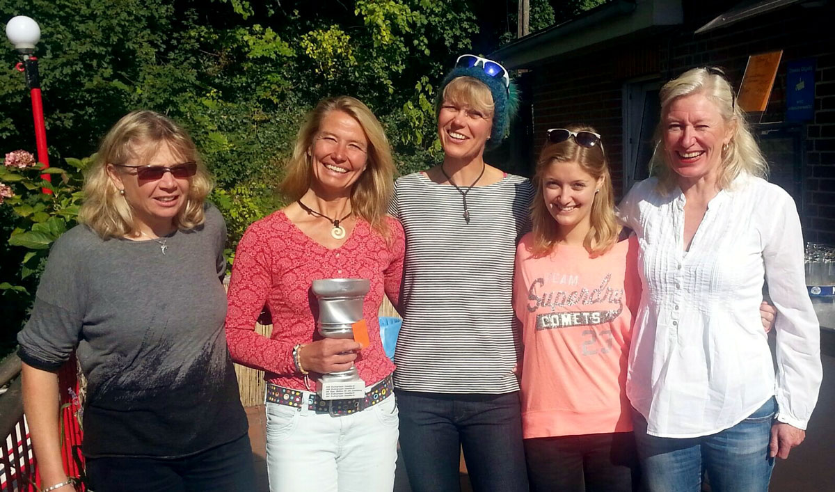 Sieger: Ulrike Lohmann, Silke Franck , Stefanie Kluge, Gaby Schulz , Stf Hanna Koos
