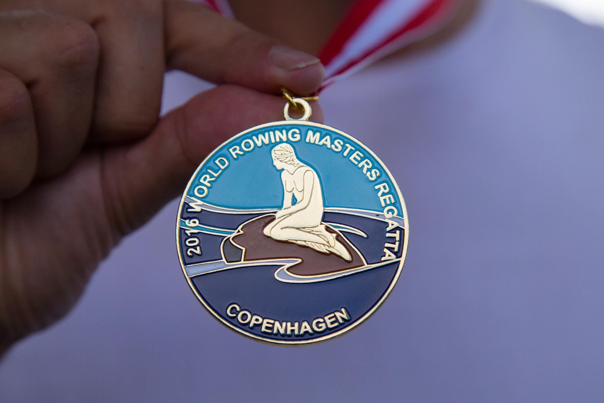 Die ersehnte Medaille.