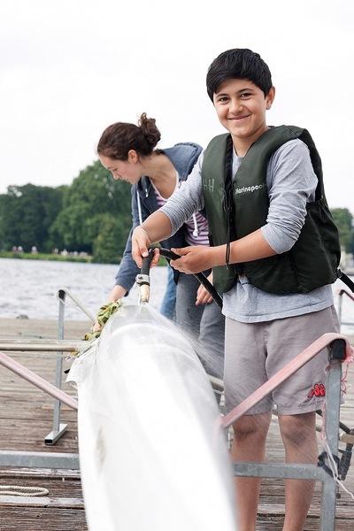 Initiative Rudern fuer Fluechtlingskinder