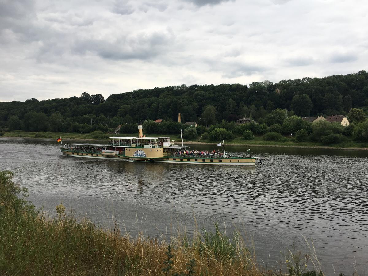 """Raddampfer """"Stadt Wehlen"""" auf der Elbe"""