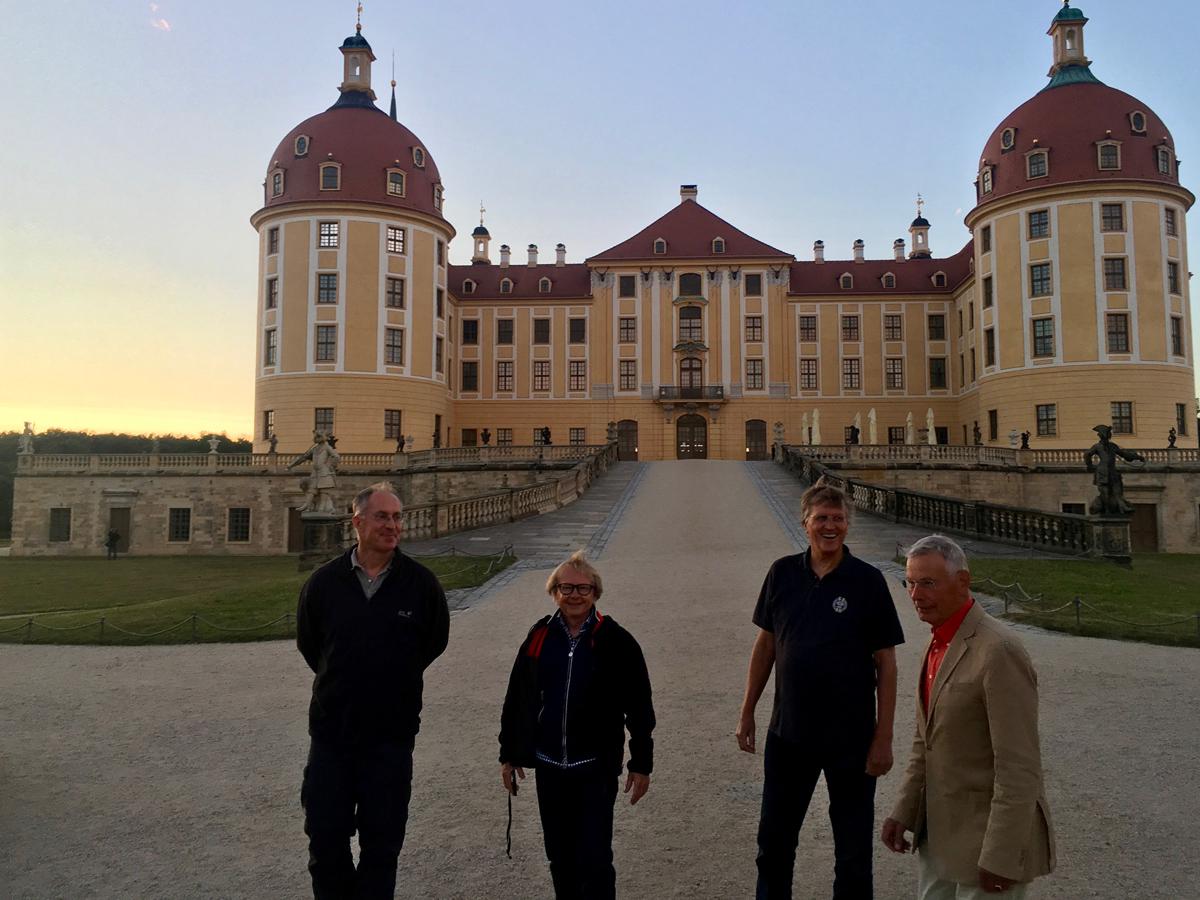 Schloss Moritzburg mit Axel, Michael, Jörn und Gerhard